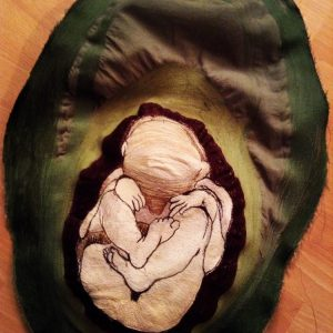 Foetus in an Avocado