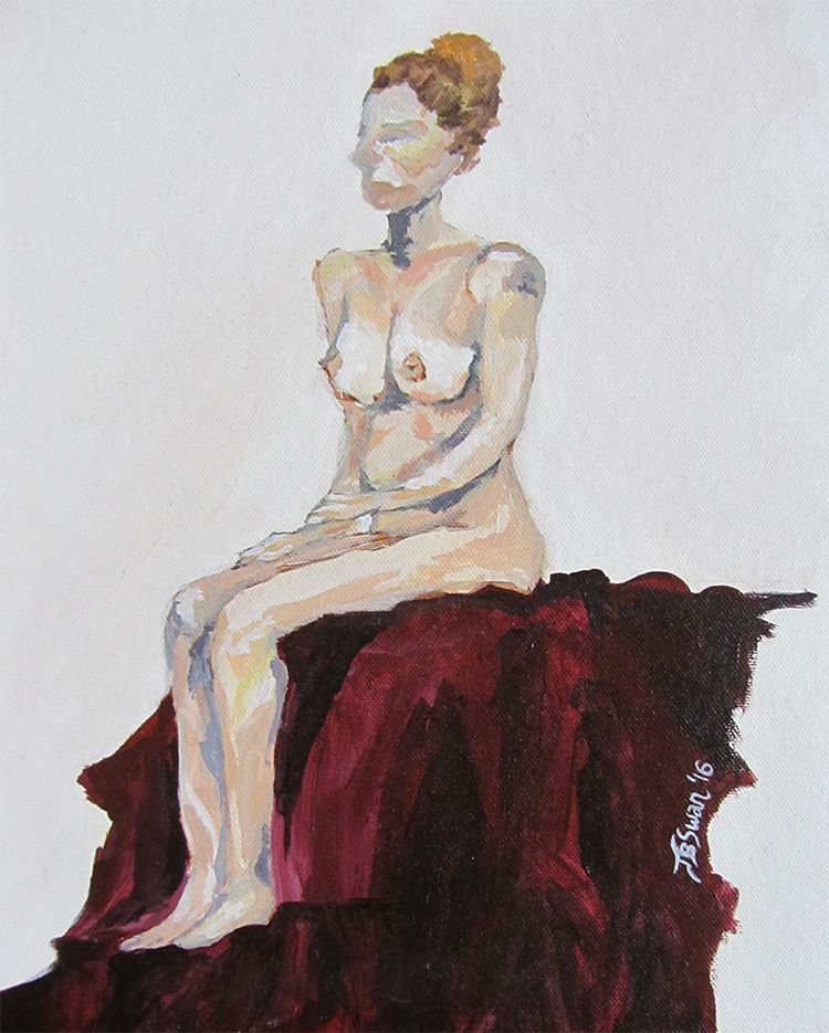 Seated Woman - Jamie Baer Swan Art
