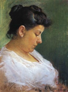 1896 Picasso - Painting of the Artist's Mother