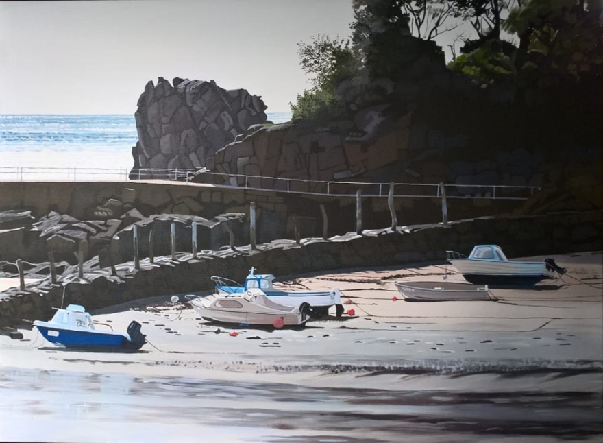 St Brelades Bay, Jersey by Carolyn Ainsworth