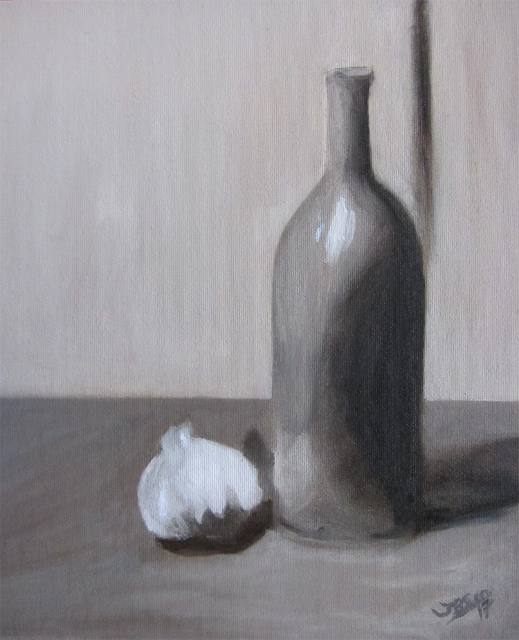 Still life in grey - Jamie Baer Swan Art