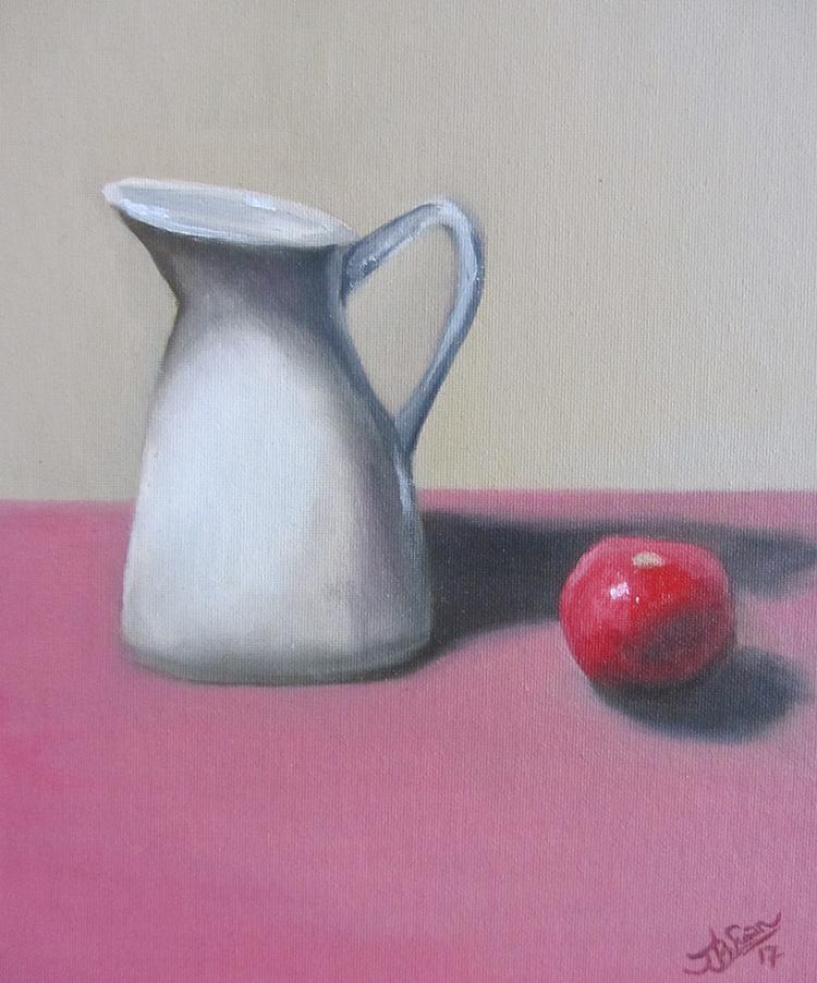 Still life in pink - Jamie Baer Swan Art