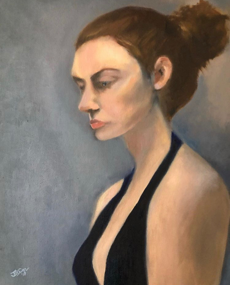 Portrait of Redheaded Girl by Jamie Baer Swan